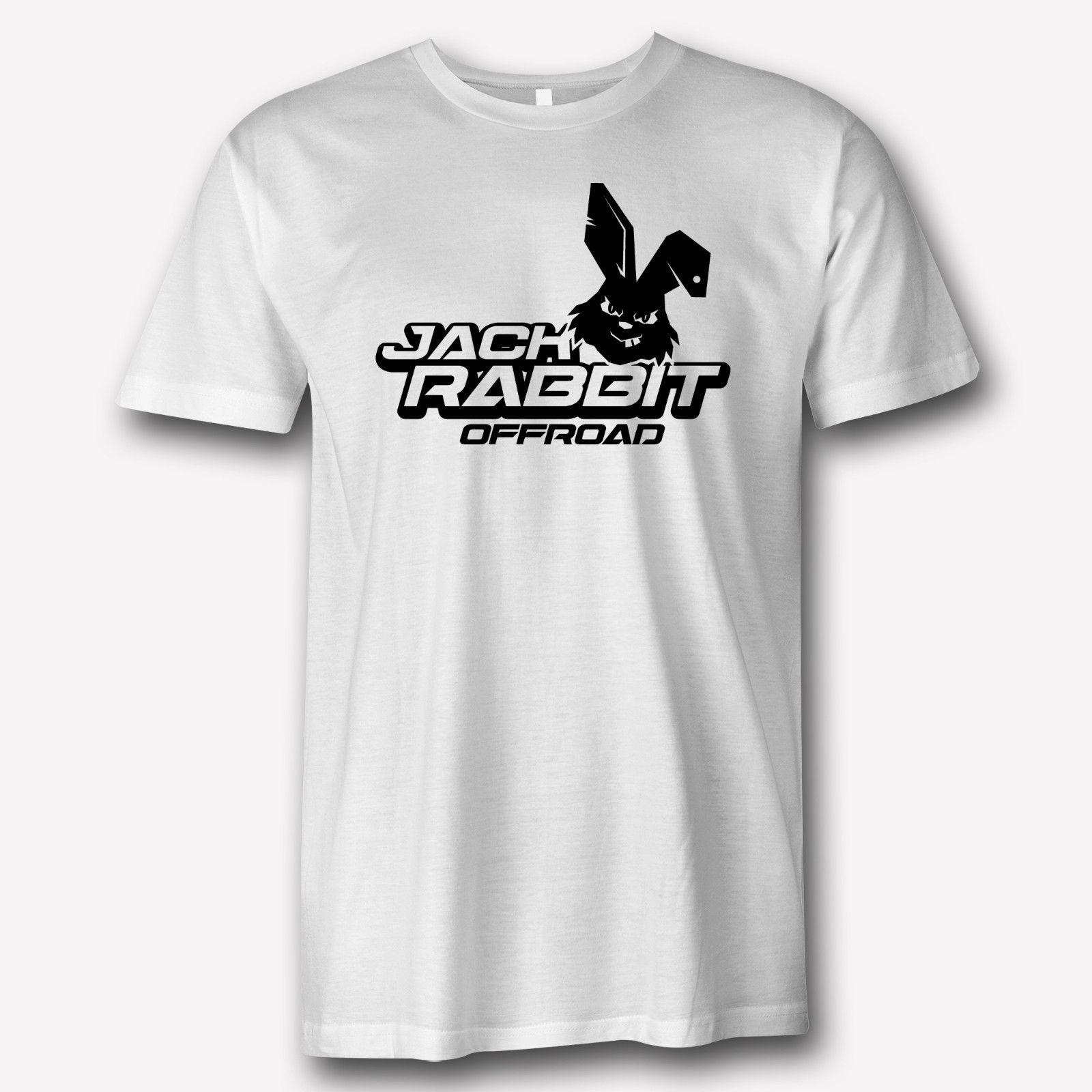 99f45df0094 Jack Rabbit Offroad Logo Racing Vintage 90 Apparel White T Shirt ART 100%  Cotton Short Sleeve O Neck T Shirt Top Tee Basic 100% Cotton Cool Top T  Shirt ...