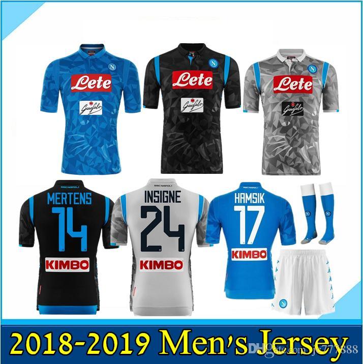 5648da137edbc 2019 2018 2019 Serie A Naples New Napoli Home Soccer Jerseys Napoli Blue  Football Jerseys Shirt For Men 18 19 HAMSIK L.INSIGNE PLAYER Shirt From  Jc777888