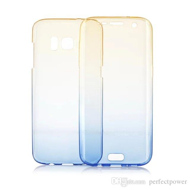 For iphone X 5,6,7,8,Plus 360 Degree Symbol Cover Case Front & Back Soft TPU Protective Cell phone cases 10051