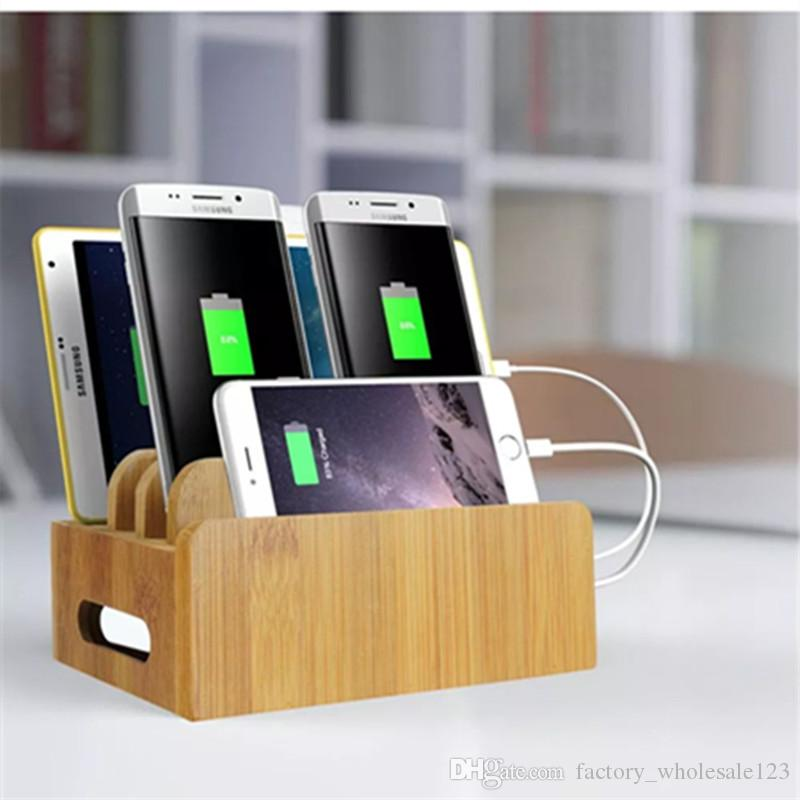 Fashion cell phone Holders Desktop wood mobile phone charging stand Bamboo bracket Mobile tablet bamboo mobile phone holder Mounts 074