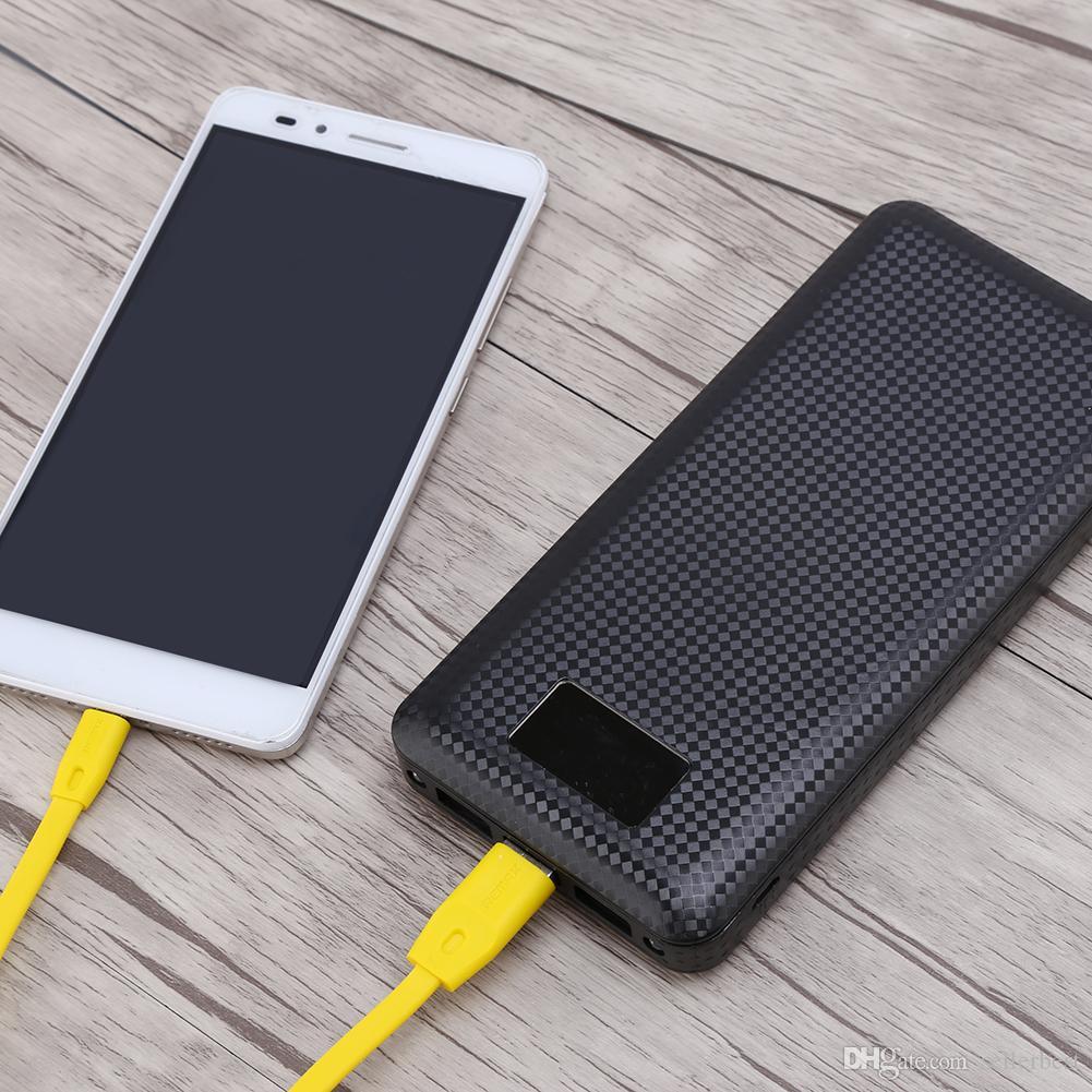 Pas de batterie 7x18650 DIY Portable Batterie Power Bank Shell Case Case Numérique LCD Affichage Double USB Powerbank Protector Case Cover