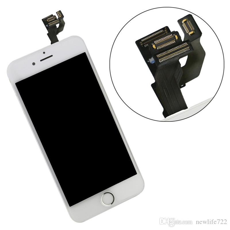 Pre-Assembled For Iphone 6 Touch Screen Digitizer LCD Display With Home Button Front Camera 4.7inch Screen Replacement Wholesale