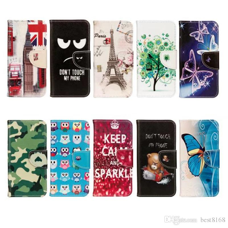 eb90c1521286ab Eiffel Tower Leather Wallet Case For Huawei P20 Lite Mate 10 Pro PU Flower  Butterfly UK USA Flag Flip Cover Cartoon Skin Don T Touch Phone Cases For  Cell ...