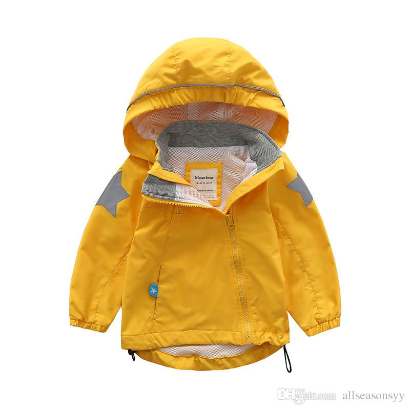f612e610ae20 Spring Autumn Children Kids Jackets Coats Baby Boys Girls Windproof ...