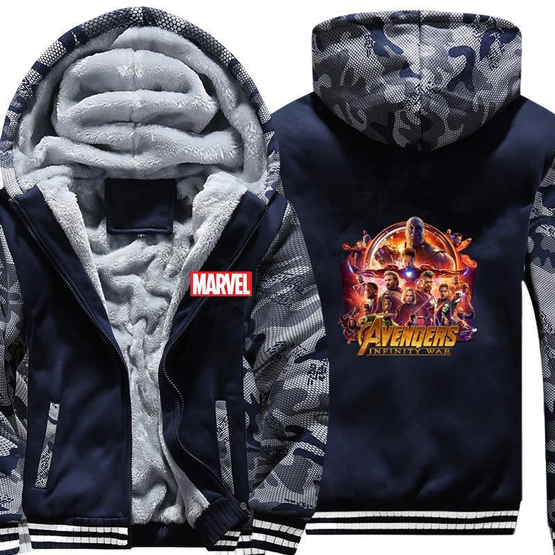 Acheter Hommes Marvel Infinity War Camouflage Sweat À Capuche Hiver Casual  Super Manteau Épaissir Zipper Sweat À Capuche Vêtement De Rue De  55.93 Du  Rykeri ... e79d0a8bf4e1
