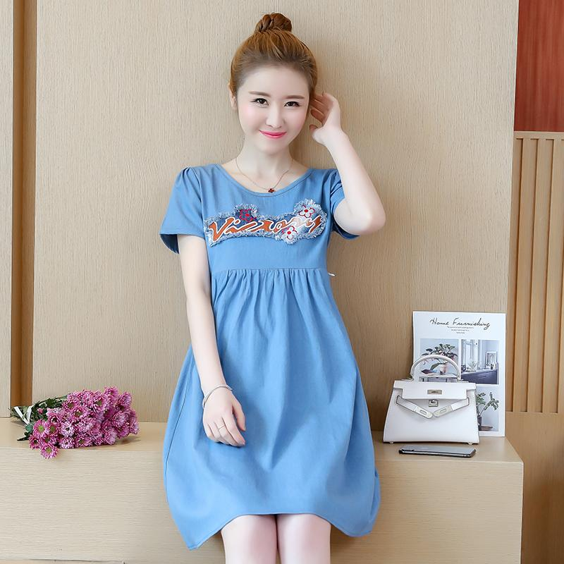 26933d8b54e6 2019 Cotton Denim Maternity Nursing Dress Summer Fashion Breastfeeding  Clothes For Pregnant Women Ties Waist Pregnancy Clothing From Mingway245