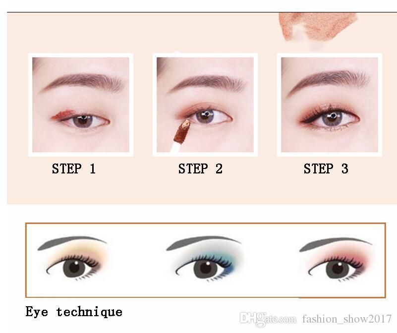 PNF Yepyeni 6 renkler Uzun Ömürlü Makyaj Su Geçirmez Sedefli Parlak Glitter Profesyonel Kozmetik Göz Farı Astar Kombinasyonu