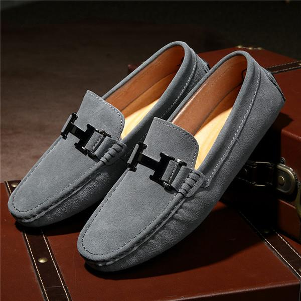 2018 Fashion Men Slip on Leisure Flat Shoes Classic Male Moccasin ... 02d19e712eb