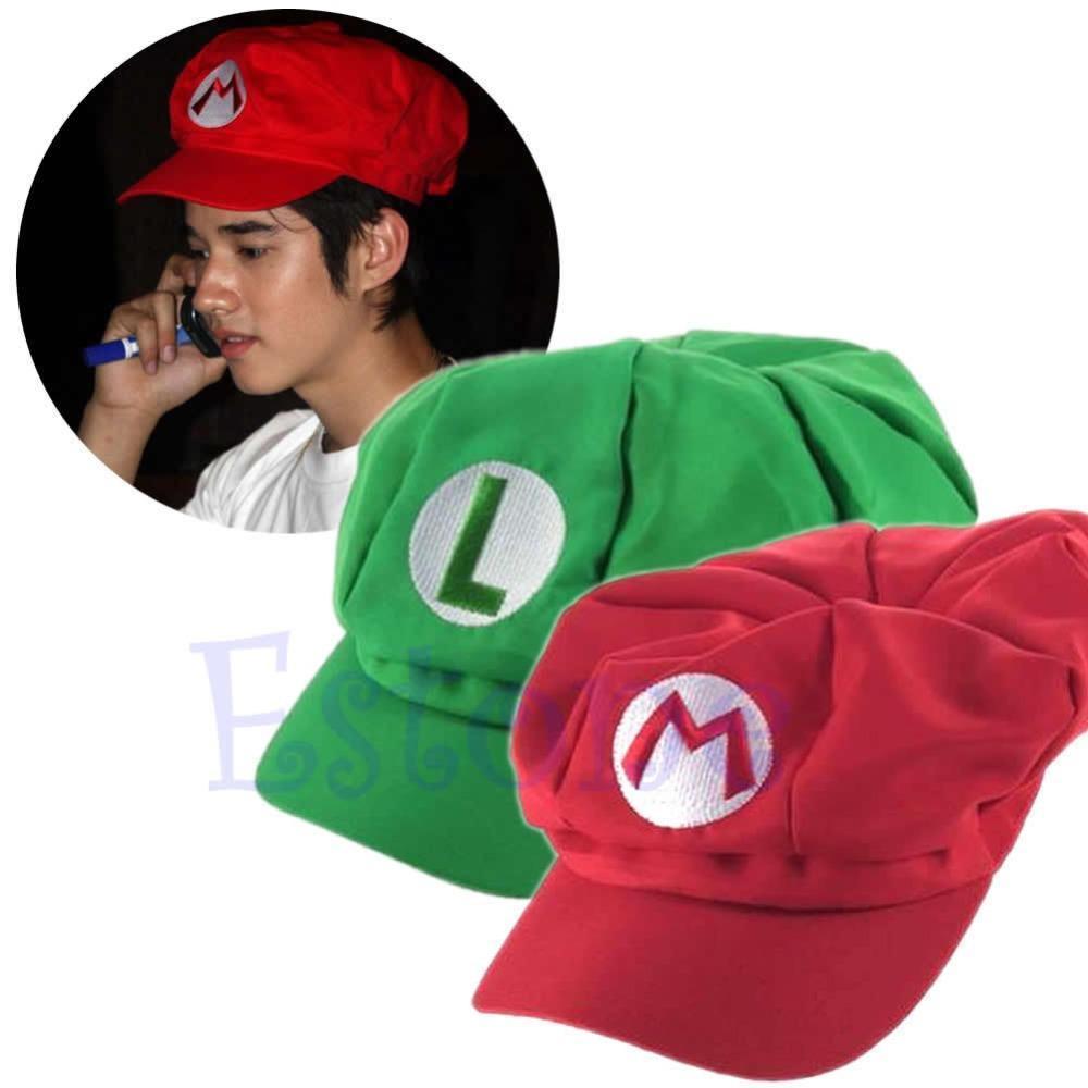 88fb168f6b8 New Fashion Luigi Super Mario Bros Cosplay Adult Size Hat Cap Baseball  Costume Drop Ship   Vintage Baseball Caps Cap Shop From Gwyseller