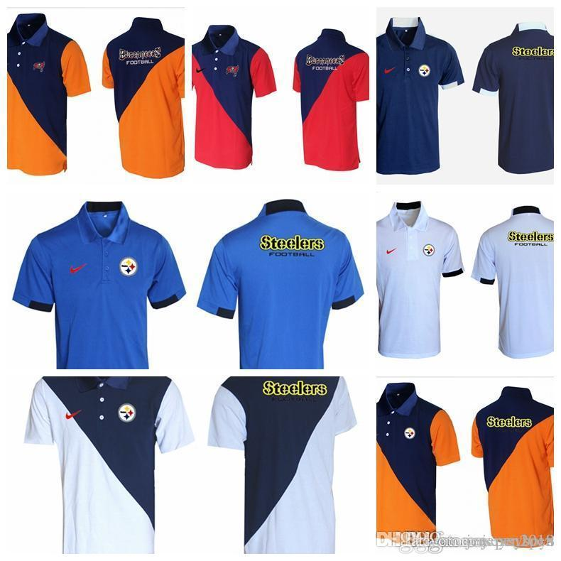 new concept 27b2a b65fd Blue red 2018 Men's New Rugby T-shirt Tampa Bay Buccaneers Pittsburgh  Steelers Bills Miami Dolphins Evergreen Polo Various styles and c