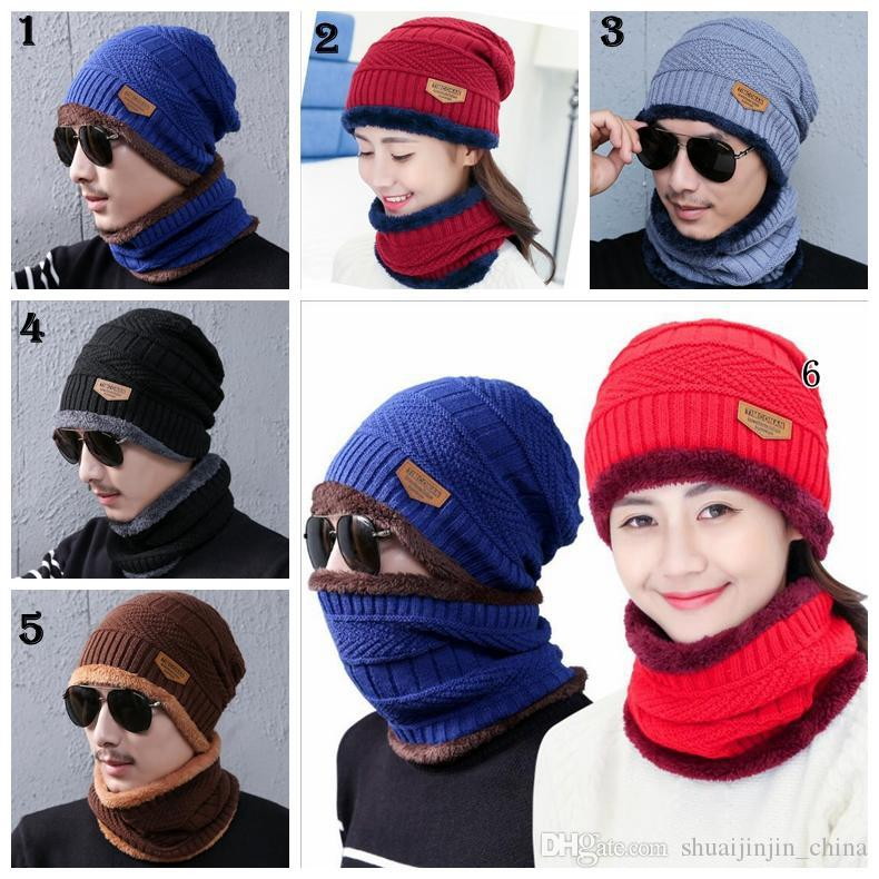 a667cbced96e0 Winter Warm Knitted Hat Beanie Hats Scarf Sets For Student Teenagers Men Knitted  Hat Cap MMA994 Snapback Caps Baby Hats From Shuaijinjin_china, ...