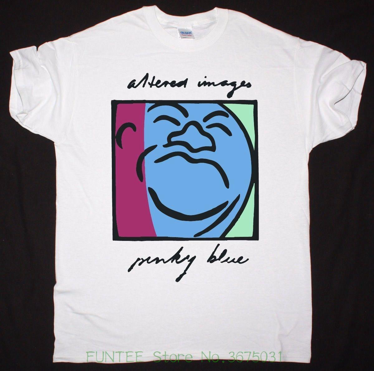 Großhandel T Shirt O Hals Männer Verändert Bilder Pinky Blau Mens