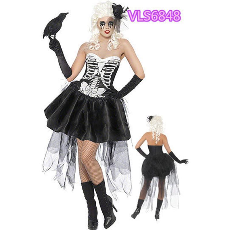 New halloween bride horror costume ladies lady zombie retro cosplay adult  masquerade costume vampire ghost bride