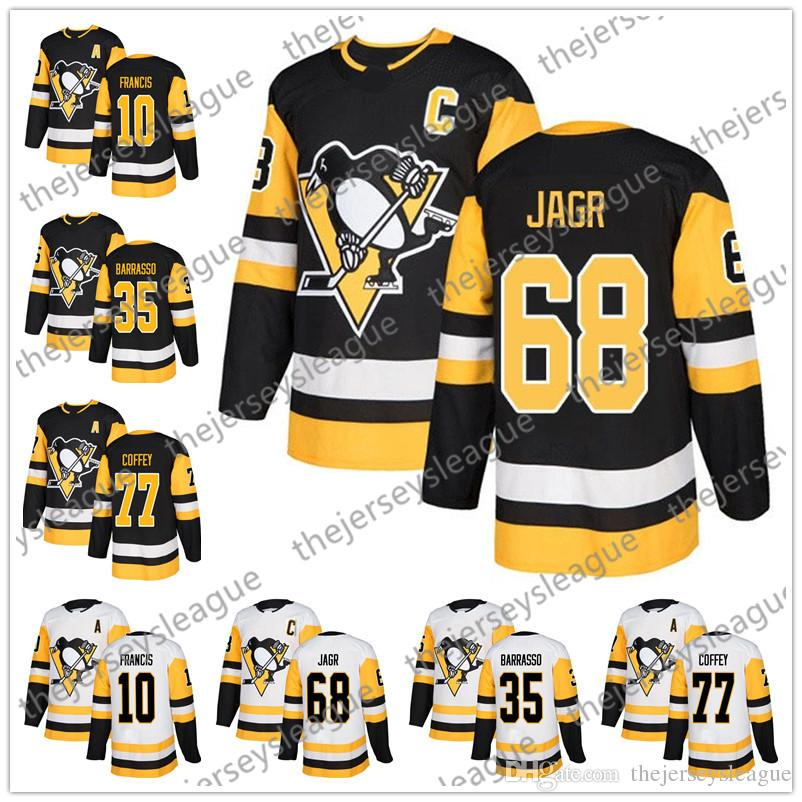 ... hockey jersey size a751d 76ef0  discount pittsburgh penguins 2018 new  brand 68 jaromir jagr 10 ron francis 35 tom barrasso 77 abff2d22a