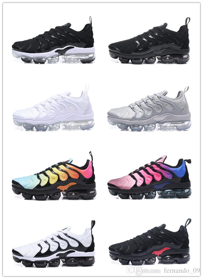 new concept 8dde4 d9168 2018 Newest TN Vapormax Plus Running Shoes High Qaulity Fashion Women Men  Hyper Violet Triple White trainers Running Sneakers