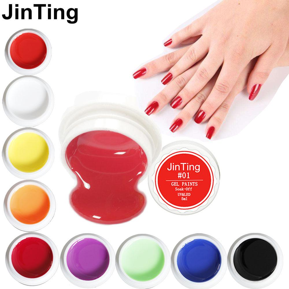 Jinting 5ml Uv Gel Solid Colors 2018 Hottest Gel Polish Nail Art
