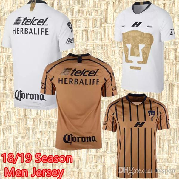 f2945cfd399 2019 Thai Quality 18 19 UNAM Pumasl Home 3RD Soccer Jersey Away Gold Mexico  Camisetas De Futbol Cougar 2019 Football Cortes Martinez Shirt From  Lvsport