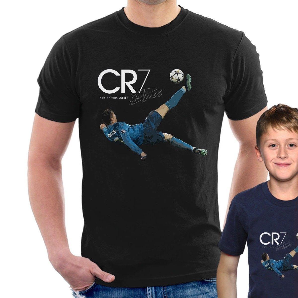 innovative design 6d64f ce79b Cr7 Bicycle Kick Goal T-shirt Cristiano Ronaldo Adult Kids Sizes Cool  Casual Pride T Shirt Men Unisex New Fashion Tshirt