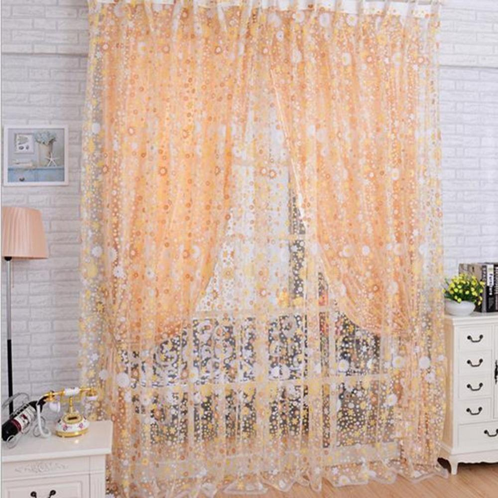 2018 fashion yellow purple cloth material printing flower curtains 2018 fashion yellow purple cloth material printing flower curtains screens romantic floral tulle door window drape panel accessories from copy03 mightylinksfo