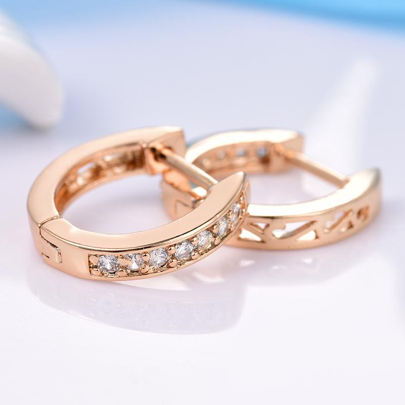 a9ec46573 2019 Oop Earrings Jewelry Gulicx 2017 Fashion Jewelry For Women Gold Color  Hoop Earrings White Austrian Crystal Zirconia Round Circle Earings.