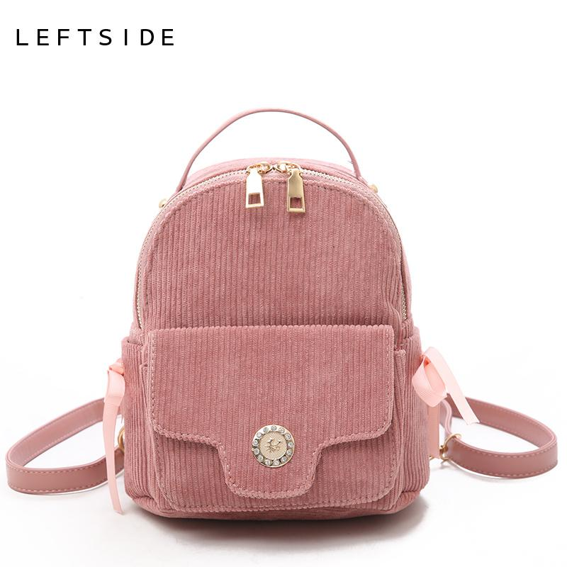 a3f1094d2e LEFTSIDE Cute Small Backpack For Women 2018 Teenagers Mini Back Pack Kawaii  Girls Bow Backpacks Feminine Packbags Solid Color Personalized Backpacks  Hunting ...