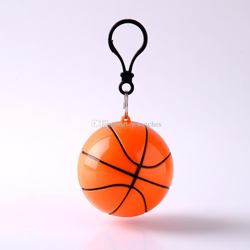 Football Baseball Spherical Raincoat Plastic Ball Key Chain Disposable Portable Raincoats Rain Covers Travel Rain Coat