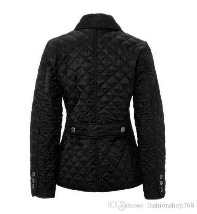 Wholesale - Women's Jacket Simple Fall Padded Casual Coat Jacket Fashion Jacket Plaid Quilted Padded Papers