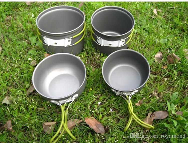 EL INDIOOutdoors camping 2-3 people portable sleeve pan multi pot Mini sleeve pot alumina DS201