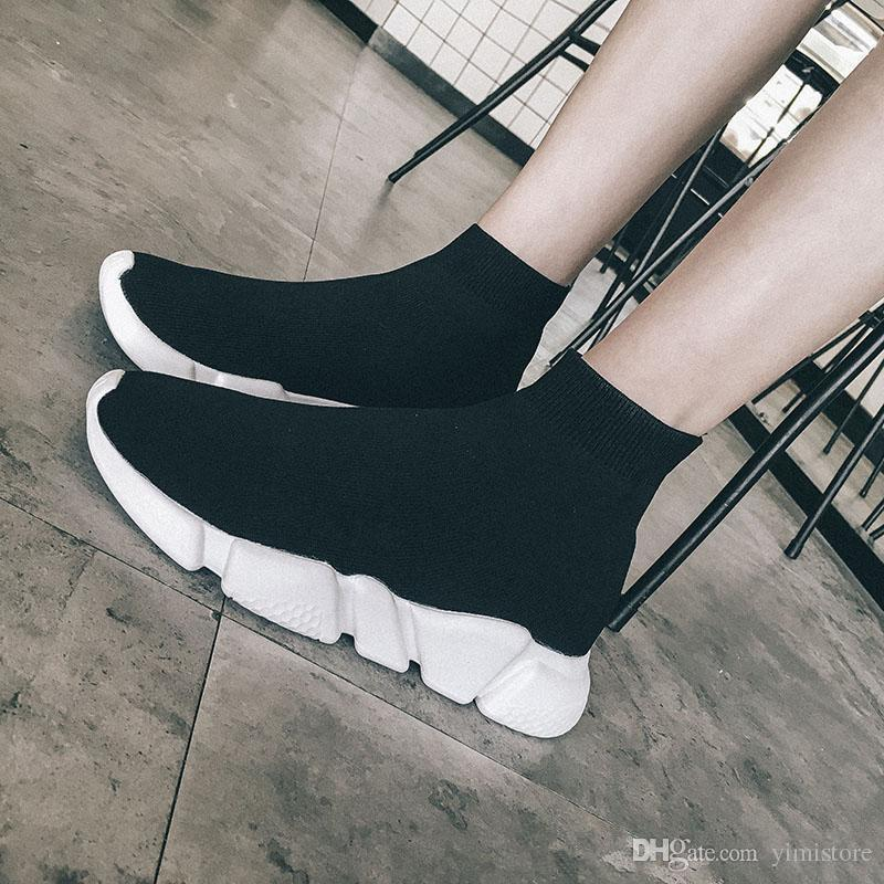 63d08dfb2 2019 Luxury Sock Shoes Casual Shoe Speed Trainer High Quality Sneakers Speed  Trainer Sock Race Runners Black Shoes Men And Women Spring Shoe Online with  ...