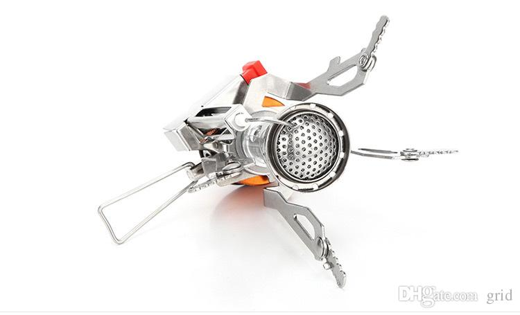 Outdoor Picnic BBQ Burner Stove Camping Gas Stoves Portable Folding Mini Burner Electronic Ignition with Box