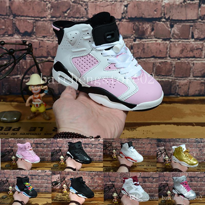 pretty nice 38c67 0512b Acheter Nike Air Jordan 6 Aj6 Retro Livraison Gratuite 2018 Enfants 6 VI  Basketball Chaussures Enfants 6s Sports Garçons Filles Jeunes Bébé En Plein  Air ...