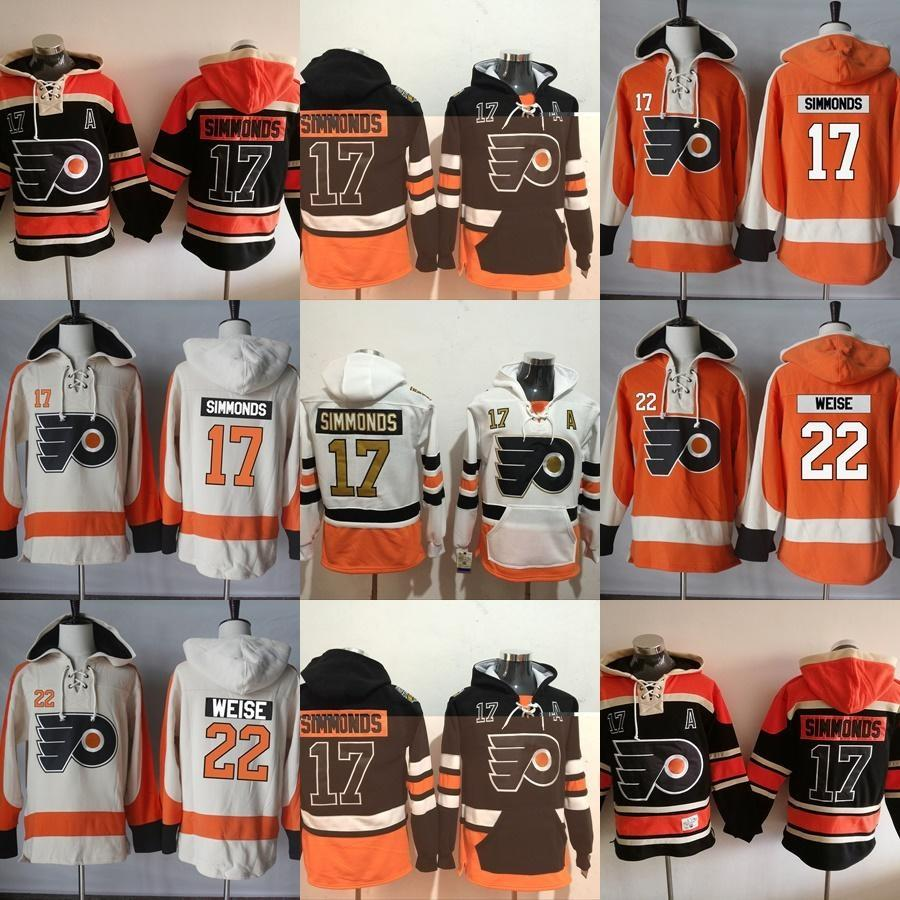 a3df128d ... australia 2018 hot sale mens philadelphia flyers 17 wayne simmonds 22  dale weise black white orange