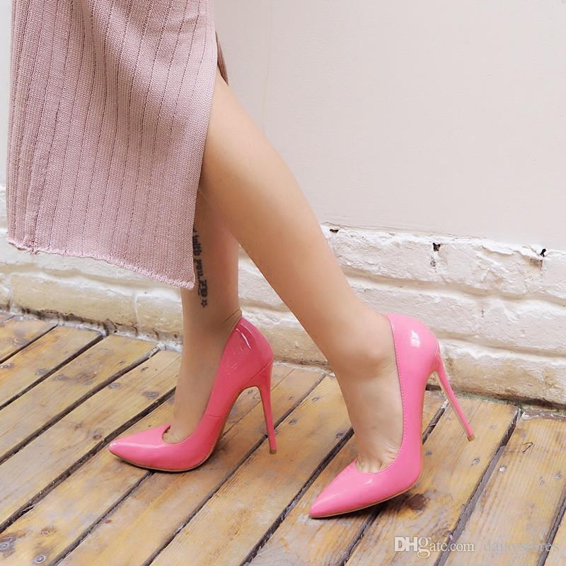 Womens Shoes High Heels Women Pumps 12CM Heels Shoes Woman Pumps Sexy Pointed Toe Stiletto High Heels Wedding Shoes