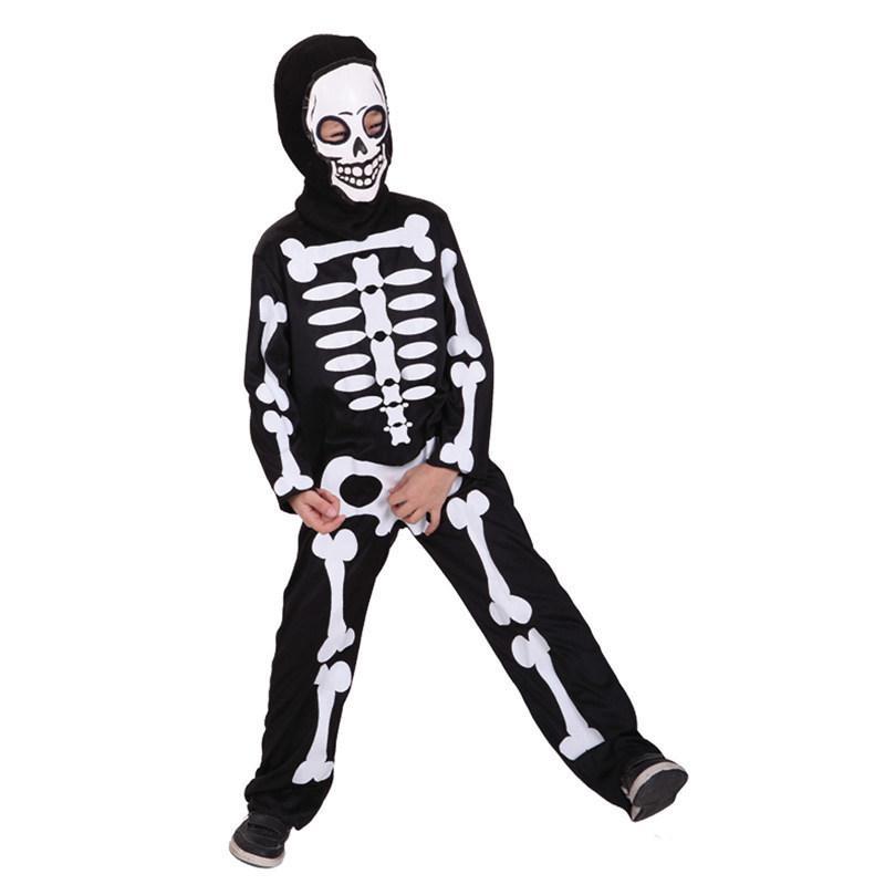 Acquista Costumi Di Scheletro Del Cranio Di Halloween Di Carnevale Bambini  Ragazzi Ragazzo Ragazze Bambino Bambini Partito Anime Party Fancy Dress  Demon A ... 269849487810