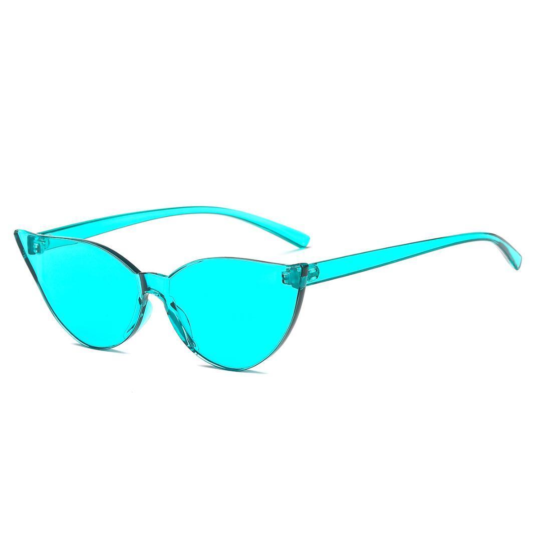 0c4313b066628 Compre Homens Mais Novo De Luxo Decoração De Cristal Gato Óculos De Sol Das  Mulheres Moda Sem Moldura Quadro Rosa Claro Azul Amarelo Tons Com Caixa NX  De ...