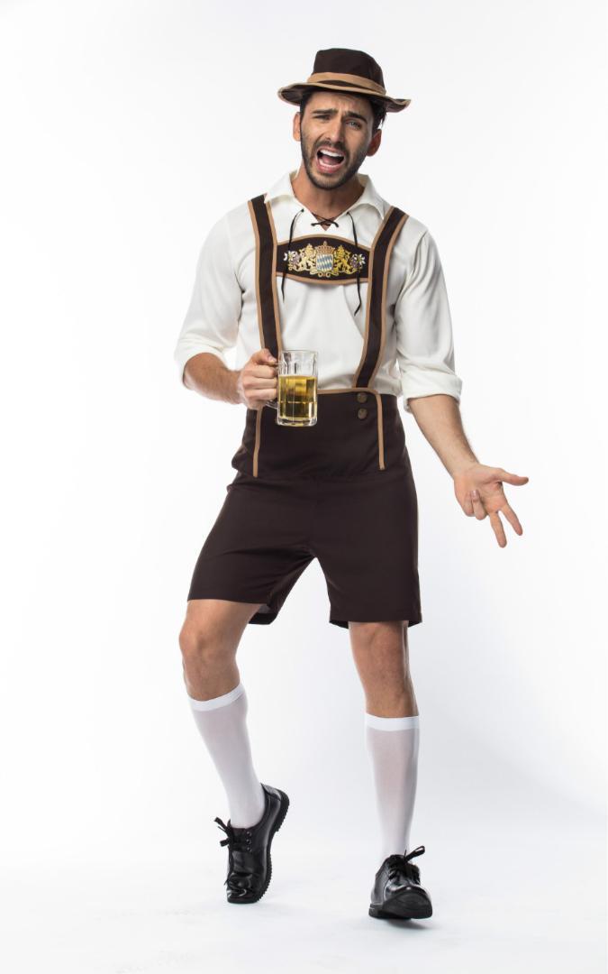 Adult Male Traditional Oktoberfest Costume Lederhosen Bavarian Octoberfest German  Beer Men S Costume Groups Of 5 Halloween Costumes Costumes For Groups Of 8  ... 579a73f77101