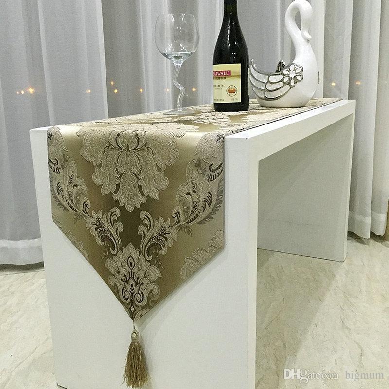 الفاخرة الأوروبية الحديثة الحد الأدنى جاكارارد الجدول عداء ل طاولة القهوة تحديد الموقع الديكور الجدول القماش 32 سم × 210 سم