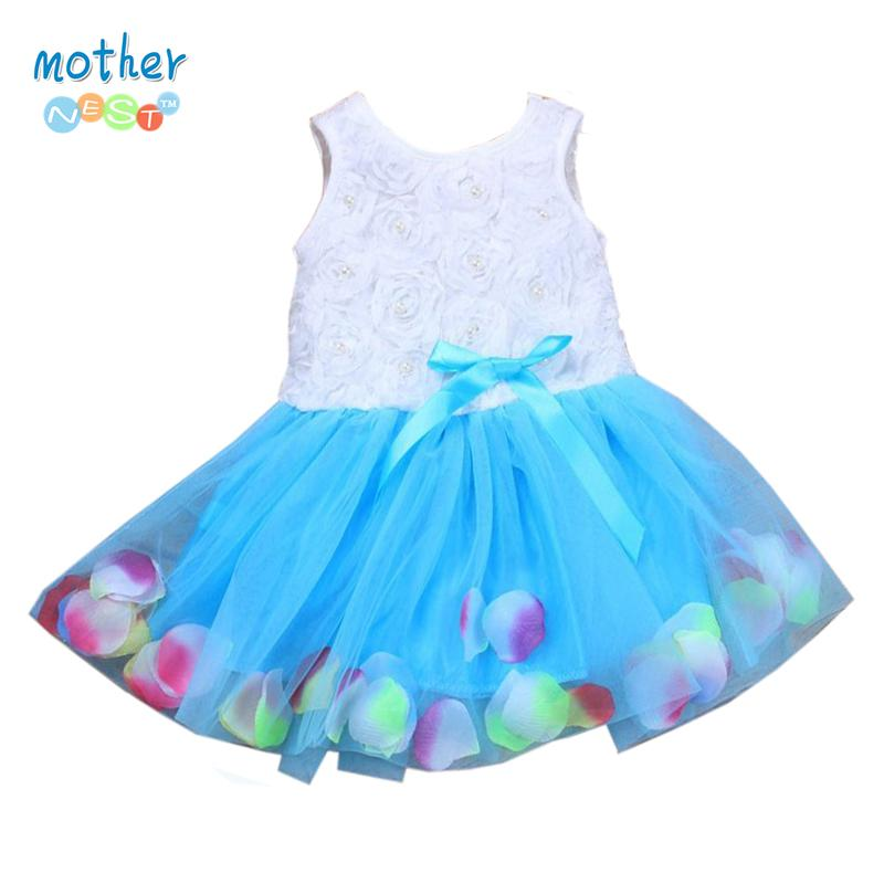 dc8198430 2019 Summer Girls Colorful Mini Tutu Dress Sleeveless Bowknot Petal Hem  Dress Floral Clothes Princess Baby Ball Gown Party Dresses From Henryk, ...