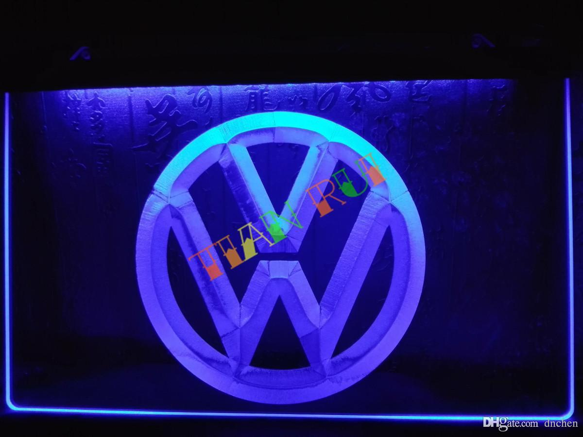 Lg145 B Volkswagen Vw Car Logo Services Neon Light Sign Home Decor