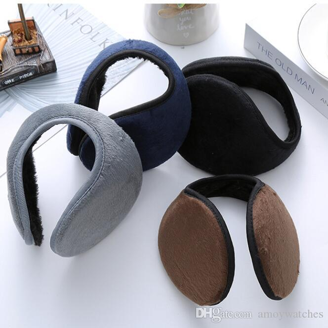 Winter ear muffs pure color fashion mens ear cover thickened earmuff cover students warm ear cover