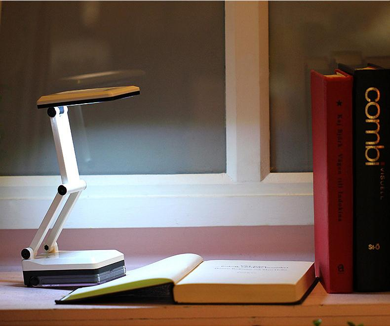 BRIGHTINWD LED Table Lamp 2 Modes Dimmable Eye Protection LED Reading Light Folding Book Lamp with EU/US Plug for Children