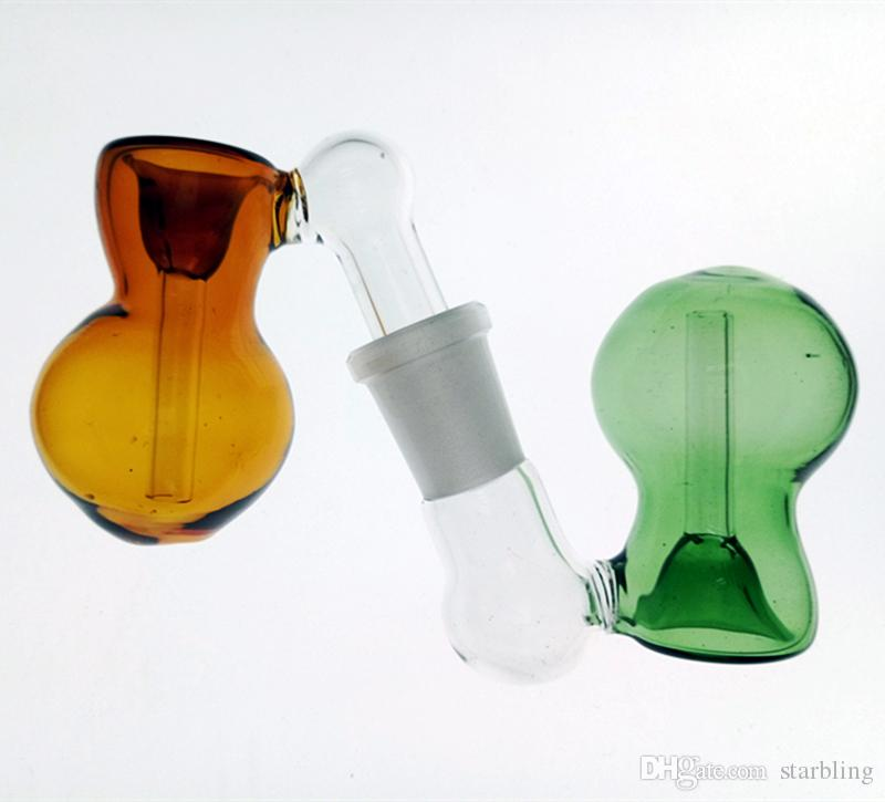 Colorful Glass Ash Catcher Bowls Female Male 14mm 18mm Joint Bubbler And Calabash Glass Ashcatcher Bowls For Bongs Oil Rigs