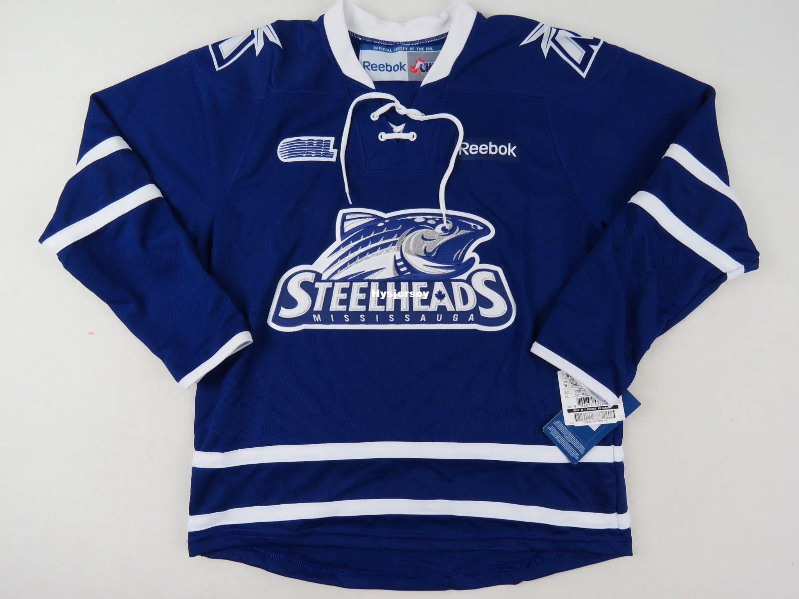 Mississauga Steelheads OHL Hockey Player Fan Jersey Youth L XL CHL Stitched  Men S Hockey Jersey From Hysjersey b8e61941c