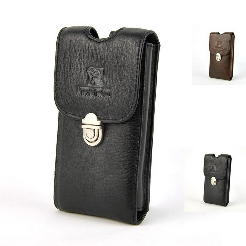 4cc95cc97b94 New High Quality Genuine Leather Cell Mobile Phone Case Belt Bag Men ...