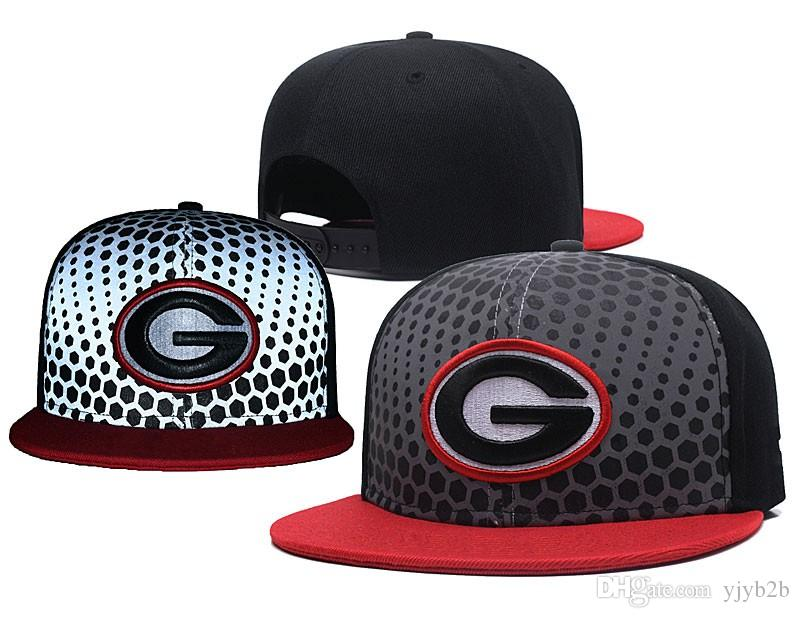 12f9a96e515 2018 One Piece Top Quality Men S Georgia USA College Snapback Hats Blue  Color Logo Embroidery Flat Baseball Sport NCAA Caps Wholesale Hats Caps  Online From ...