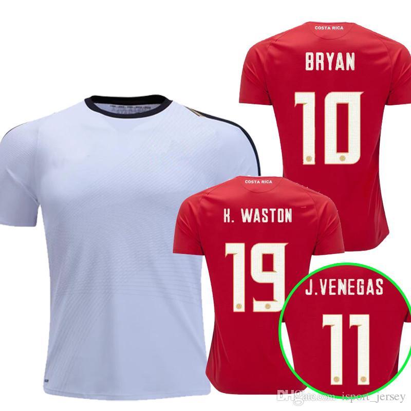 sale retailer de6f8 fe597 Top Thai quality 2018 BRYAN home soccer jersey world cup BRYAN H.WASTON red  national team soccer shirt Costa Rica Camiseta de fulbol