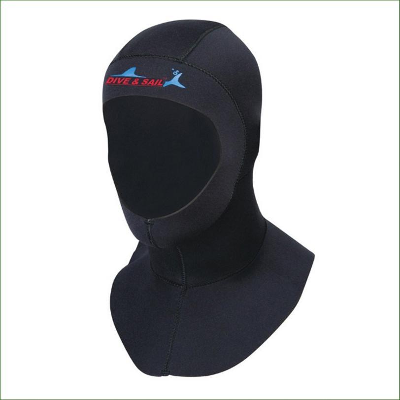 Compre DC02H 3mm Neoprene Chapéu De Mergulho Com Ombro Profissional Uniex  Touca De Natação De Inverno À Prova De Frio Wetsuits Capa De Cabeça  Capacete De ... 081e7d3d8bb