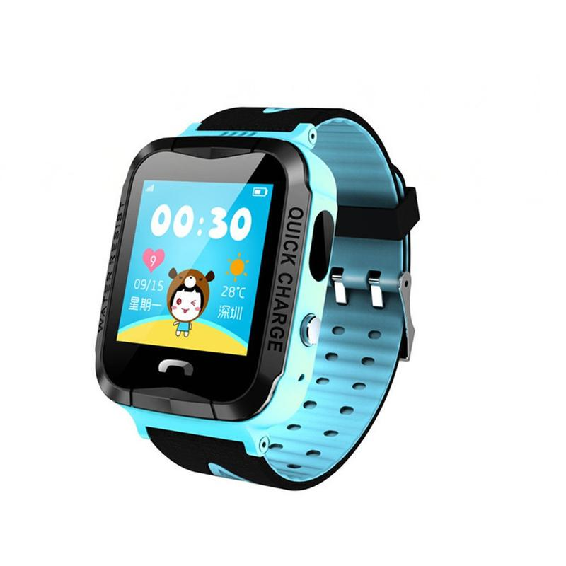Wearable Kids IP67 Waterproof GPS Location Video Call Smart Watch Touch Screen Tracker with Camera for Android