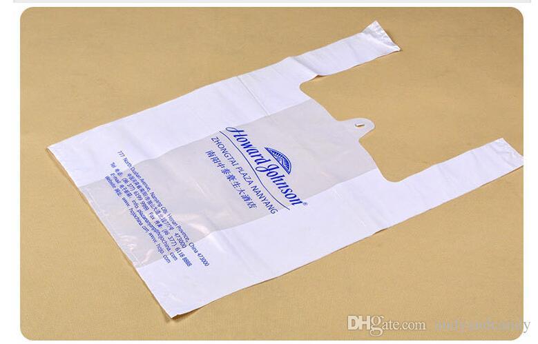 Sacos de plástico feitos sob encomenda do logotipo que compram o saco afastado durável sacos de embalagem de pouco peso eco-amigáveis para a propaganda da loja da fruta do supermercado