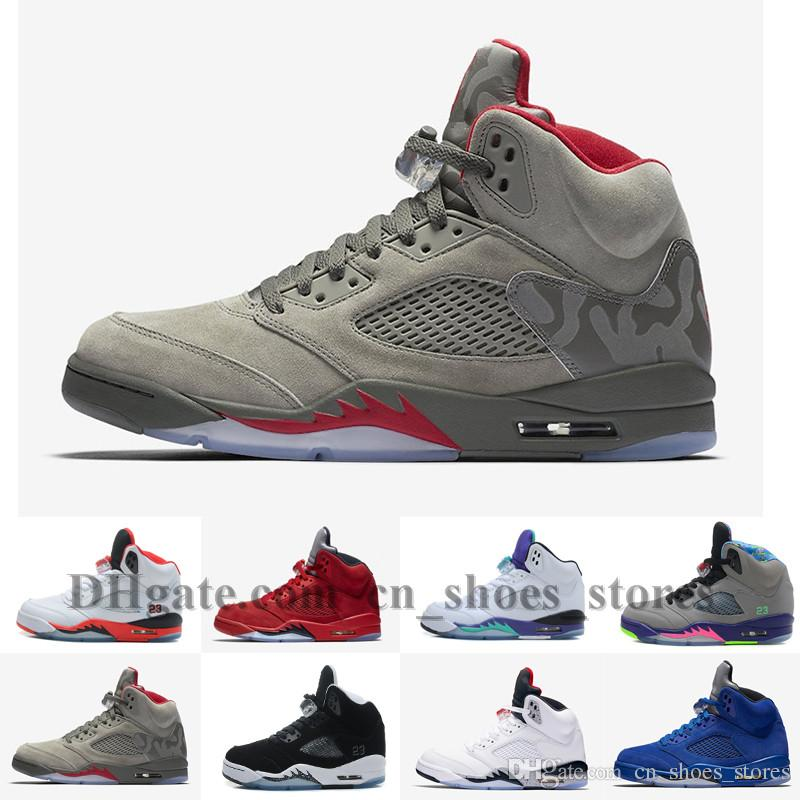 037e899891f4 5 Basketball Shoes V METALLIC SIER White Men Athletics Boots 5s Sports Sneaker  Jumpman Casual Trainers Fashion Training Online with  106.84 Pair on ...